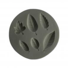 Силиконовый молд Набор листиков №5 9.5x9.5 см