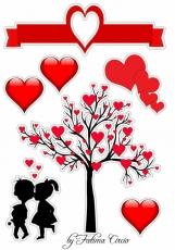 Вафельная картинка A4 Любовь 2021 №14