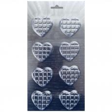 Форма пластиковая для шоколада Сердечки 12х23 см