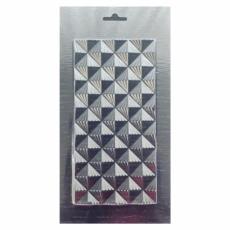 Пластиковая форма для шоколада Плитка пирамидки в полоску