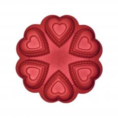 Форма силиконовая Сердечки ажурные