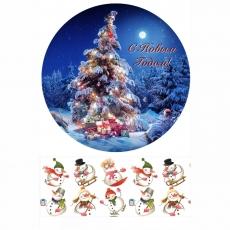 Вафельная картинка A4 Новый год, Рождество 18