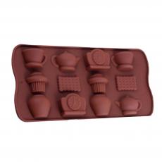 Силиконовая форма для конфет Чаепитие