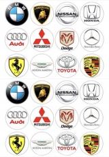 Вафельная картинка A4 Эмблемы автомобилей