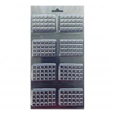 Пластиковая форма для шоколада Маленькие плитки классика крупные