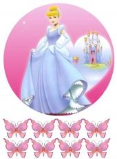 Вафельная картинка A4 Принцесса 4