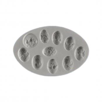 Силиконовый молд камея набор камней