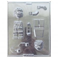 Пластиковая форма для шоколада Ниндзяго 21.5х26.5 см