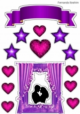 Вафельная картинка A4 Любовь 2021 №11