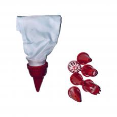 Набор мешок тканевый с пластиковыми насадками маленький 7 шт