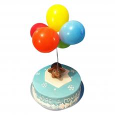 Шарики воздушные разноцветные на торт 10 шт