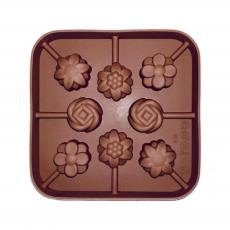 Силиконовая форма для кейк-попсов Цветочное ассорти