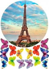 Вафельная картинка A4 Эйфелева башня