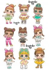 Вафельная картинка A4 L.O.L Doll №5