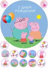 Вафельная картинка A4 Свинка Пеппа 4