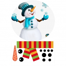 Вафельная картинка A4 Снеговик 1