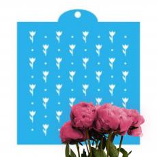 Трафарет Поле цветов 15x15 см