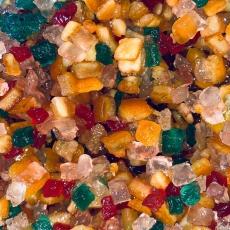 Засахаренные фруктовые кубики микс 6х6 мм 50 гр развес