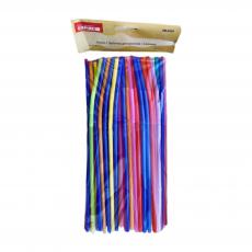 Пластиковые трубочки разноцветные с изгибом 50 шт