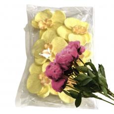 Набор Сахарные Орхидеи жёлтые 7 шт 4 см