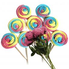 Набор сахарных топперов Спиралька цветная 9 шт