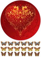 Вафельная картинка A4 Love 6