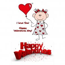 Вафельная картинка A4 День святого Валентина №8