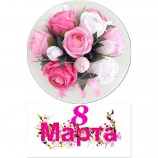 Вафельная картинка A4 8 Марта №017