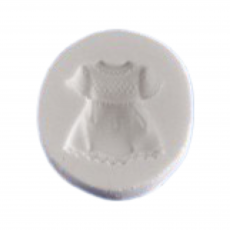Силиконовый молд Детское платьице 2.6x2.6 см