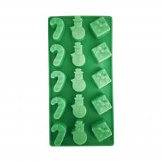Силиконовая форма для конфет Леденцы, снеговики, подарки