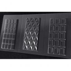 Пластиковая форма для шоколада Cake&Pie Три плитки классика 180х345 мм