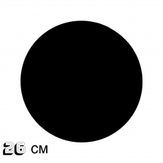 Подложка под торт двусторонняя чёрная 26 см