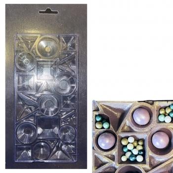 Пластиковая форма для шоколада Плитка Визуальный объём 8.5х17 см