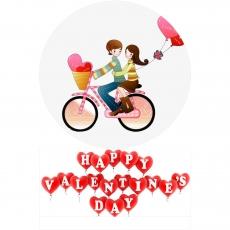 Вафельная картинка A4 День святого Валентина №13