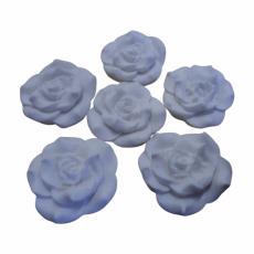 Набор Сахарные Розы белые 6 шт 3.5 см