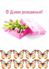 Вафельная картинка A4 Цветы 13