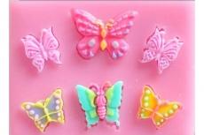 Силиконовый молд Мини бабочки ( 6 штук )