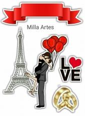 Вафельная картинка A4 Любовь 2021 №2