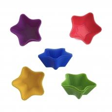 Форма силиконовая Кекс порционный звездочка 10 шт