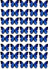 Вафельная картинка A4 Бабочки 12