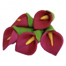 Набор Сахарные Калы розовые 5 шт 3х5 см