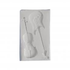Силиконовый молд Скрипка и Гитара 4.5х8 см