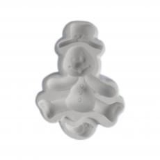Силиконовый молд Снеговик с птичкой 6.5х9 см