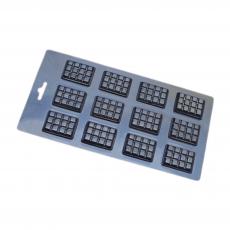 Пластиковая форма для шоколада Маленькие плитки №2 13.5х22.5 см