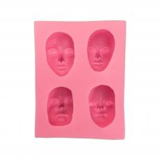 Силиконовый молд Лица Людей 5х6.6 см