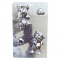 Пластиковая форма для шоколада Мишка 3D 15х24 см