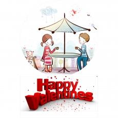 Вафельная картинка A4 День святого Валентина №16