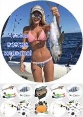 Вафельная картинка A4 Рыбалка
