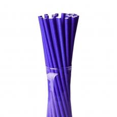 Бумажные трубочки Фиолетовые 25 шт