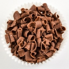 Декор-завитки с молочного бельгийского шоколада 100 гр